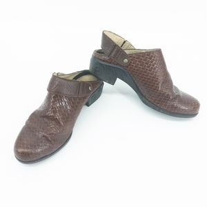 Ariat Womens Brown Woven Leather Slingback Mules